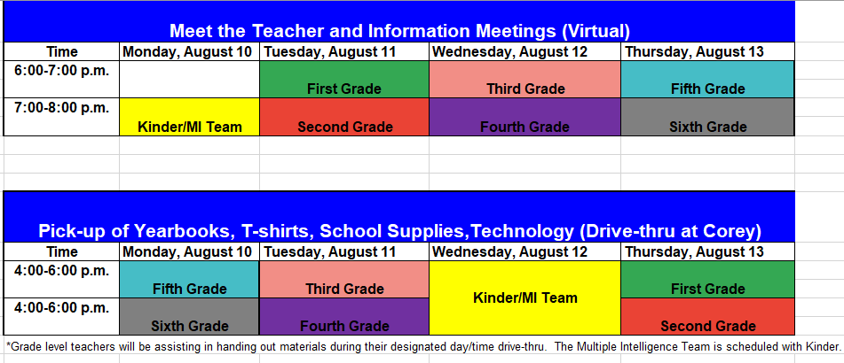 meet the teacher virtual