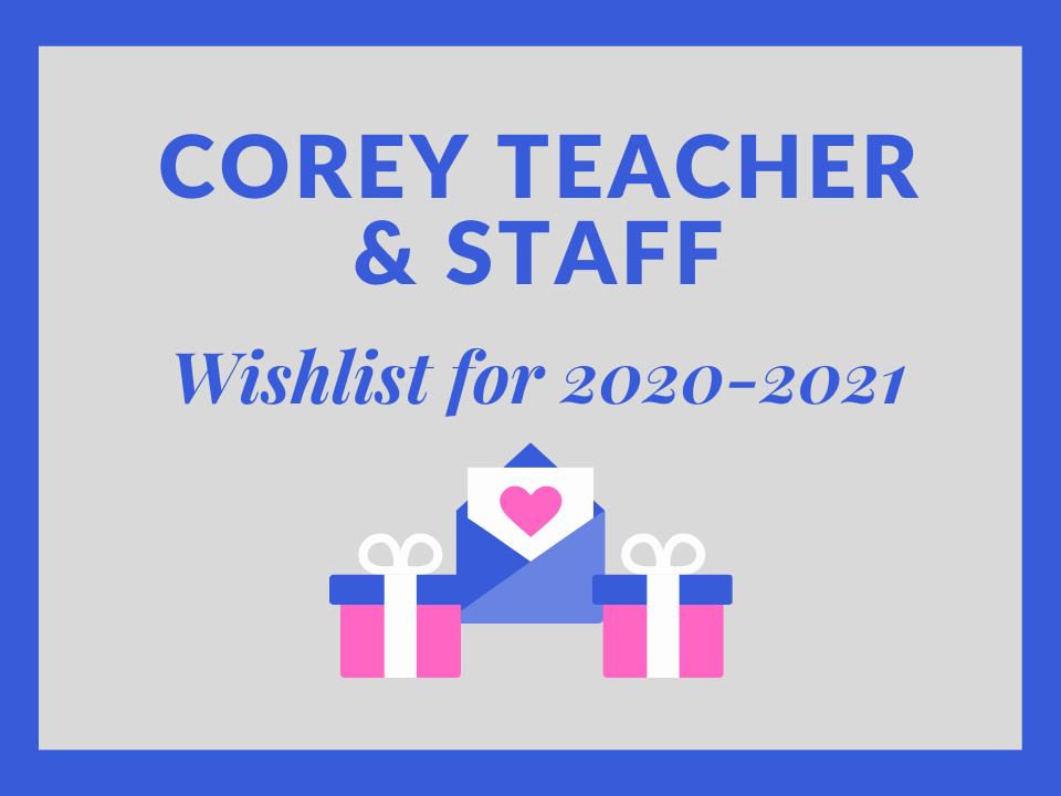 Corey Teacher wishlist