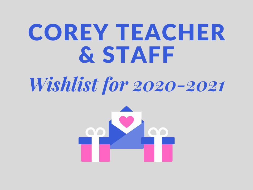Corey Teacher wish list